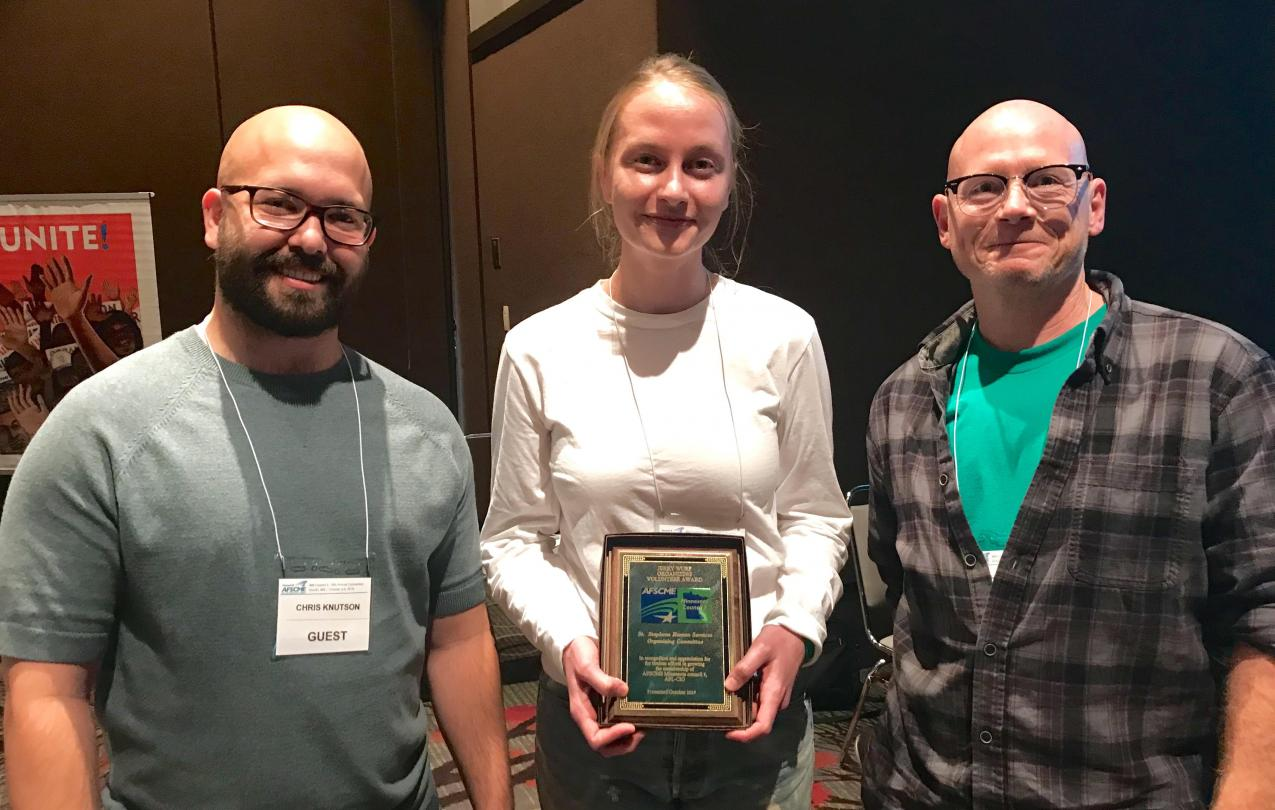 St. Stephens Organizing Committee members accept the 2019 Jerry Wurf Organizing Award